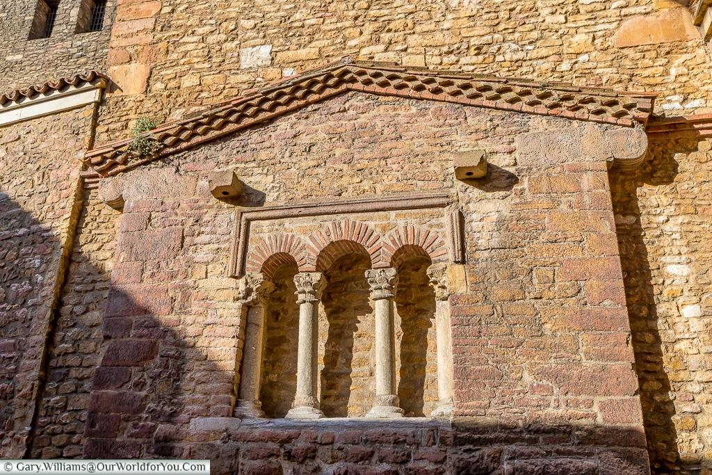 The three light window of the Church of San Tirso, Oviedo, Spain