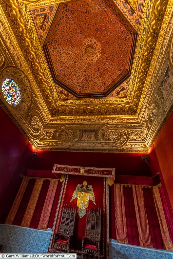 The thrones, Alcázar, Segovia, Spain