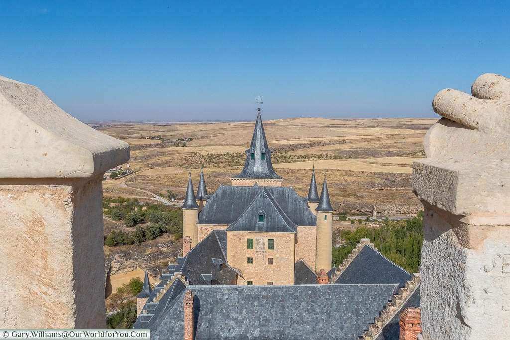 The view northwest from Juan II's tower, Alcázar, Segovia, Spain