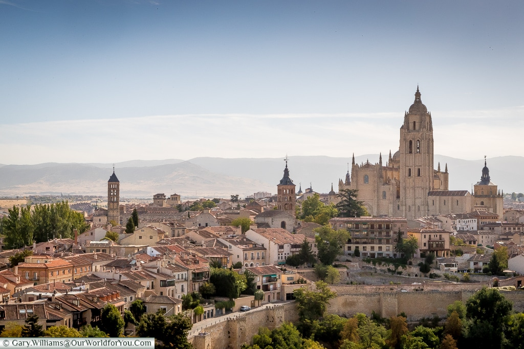 The view of the city from the Alcázar, Segovia, Spain