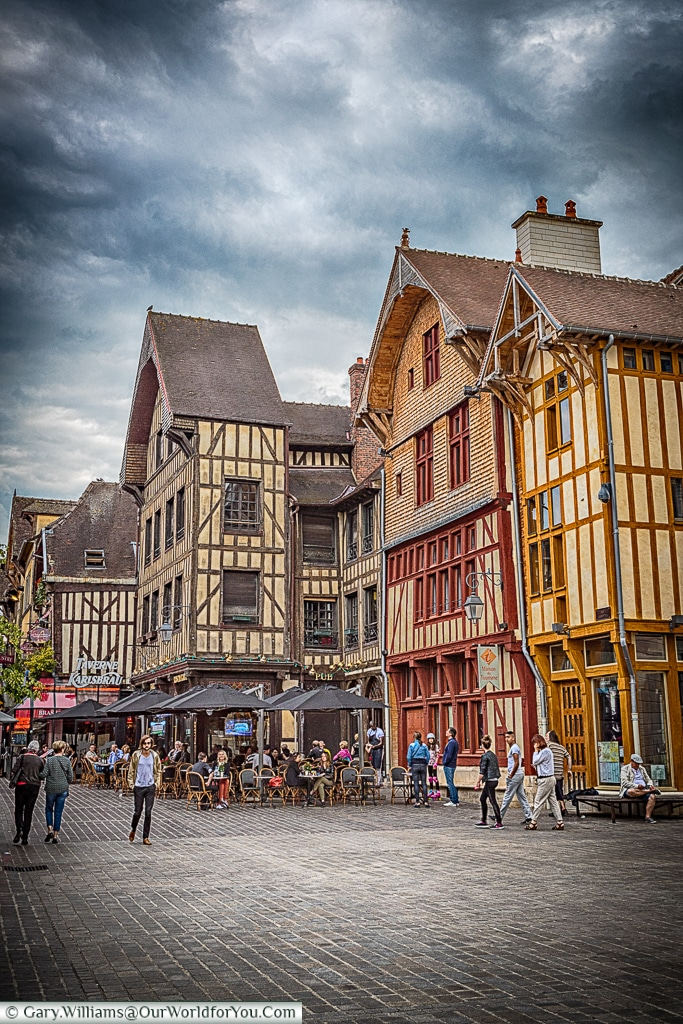 The town centre, Troyes, Champagne, Grand Est, France