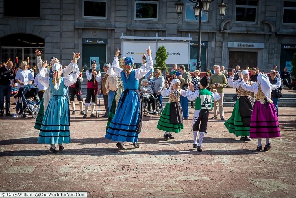 Traditional dancing, Oviedo, Spain