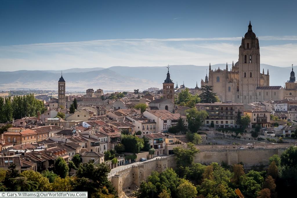 The city from the Alcazar, Segovia, Spain