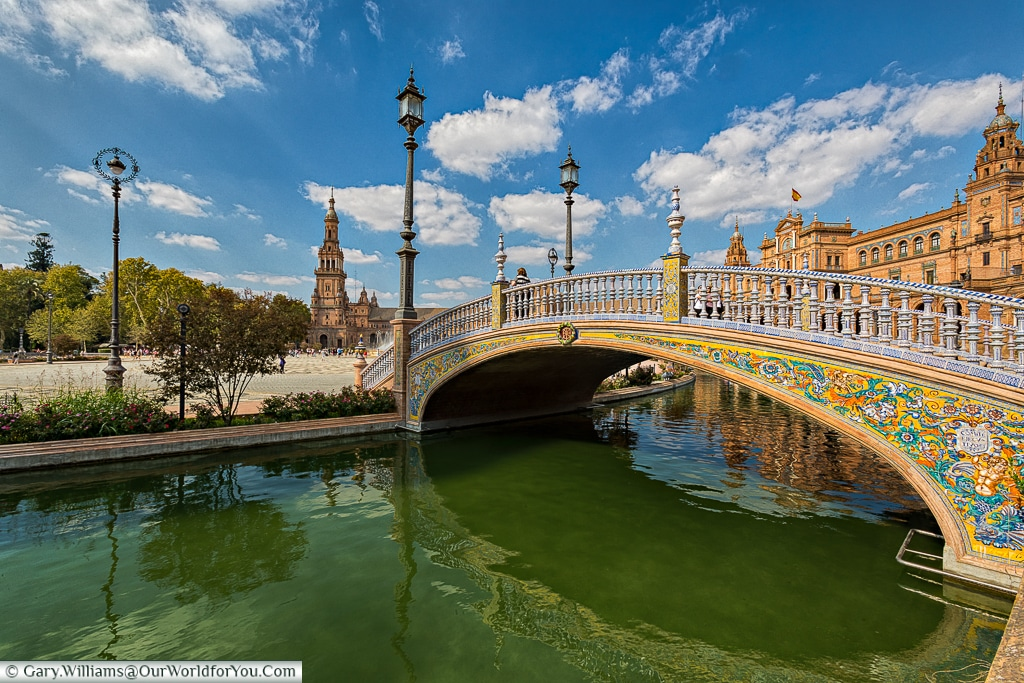 A bridge in the Plaza de España, Seville, Spain