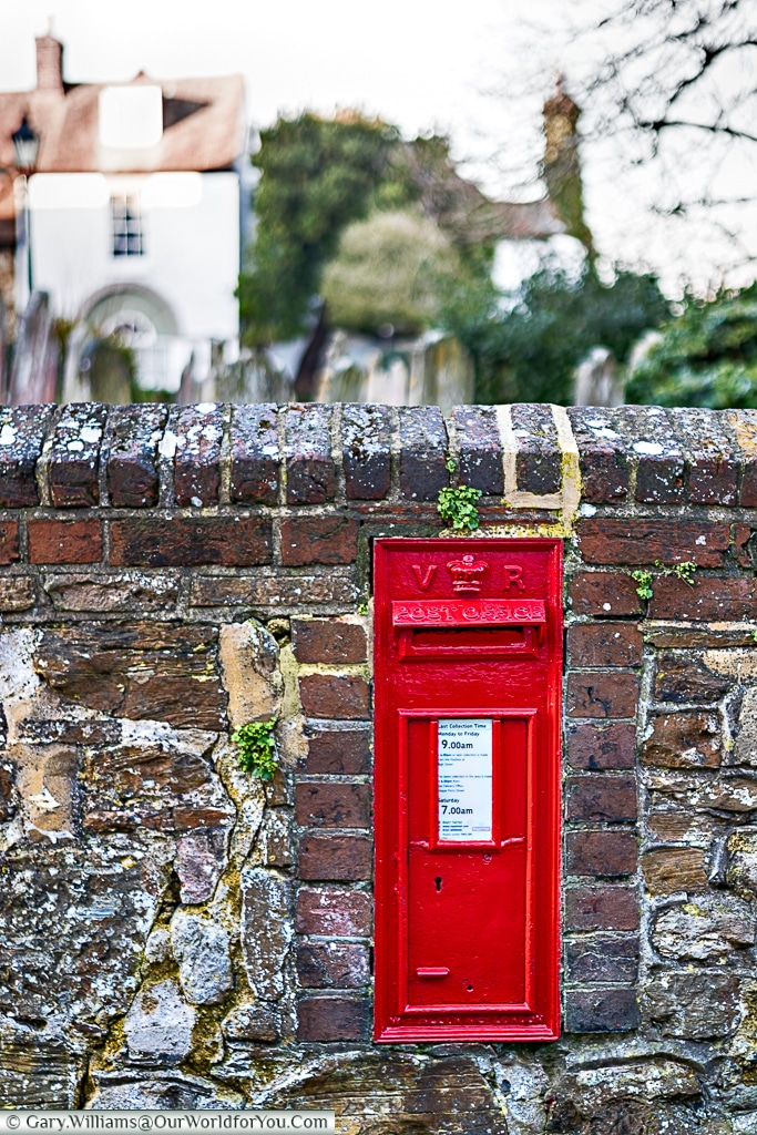 A Victorian letterbox, Rye, East Sussex, England, UK