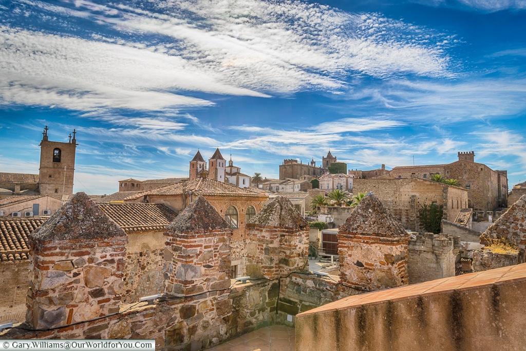 Across the rooftops, Cáceres, Spain