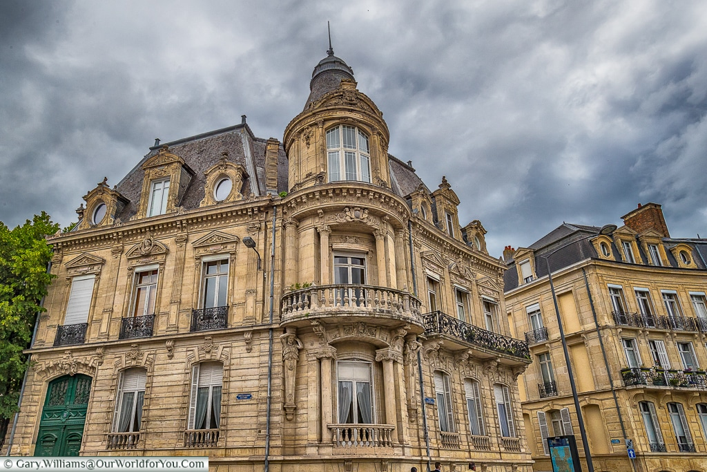 Impressive buildings throughout Reims, Champagne Region, France