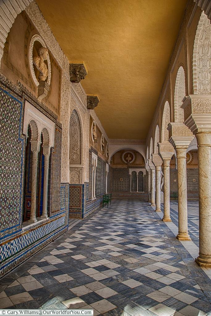 Inside Casa de Pilatos, Seville, Spain