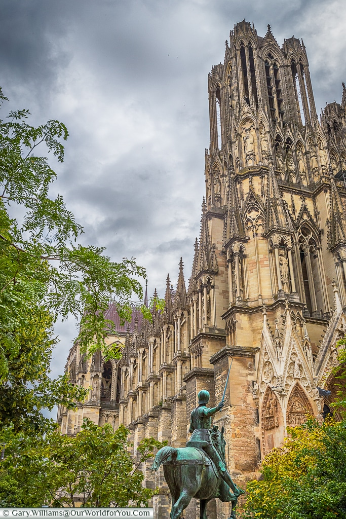 The Cathedral, Reims, Champagne Region, France