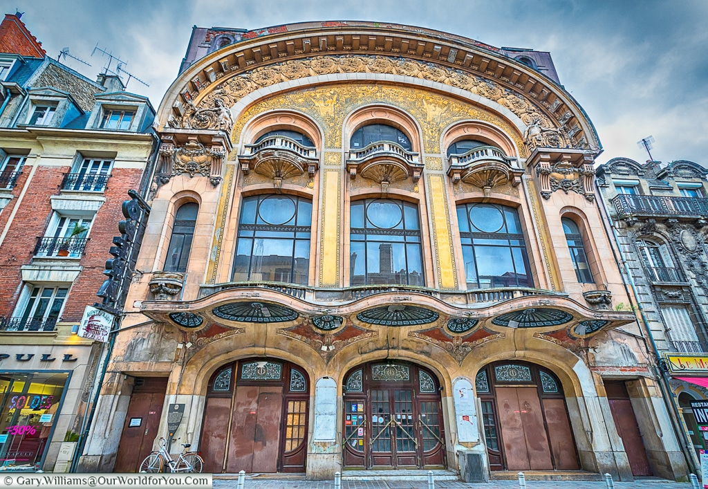 The old theatre in need of TLC, Reims, Champagne Region, France