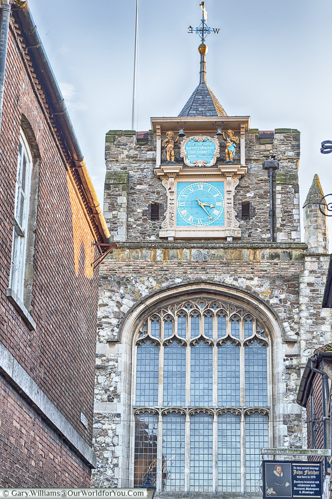 The churchtower of St Mary's the Virgin, Rye, East Sussex, England, UK