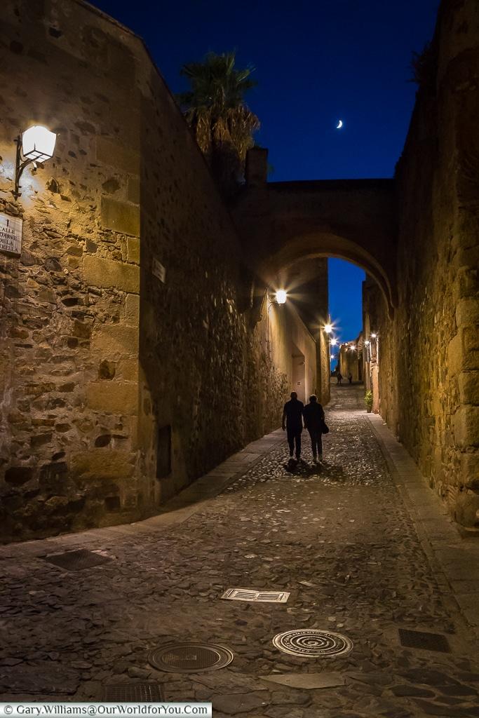 The quiet lanes of Cáceres, Spain