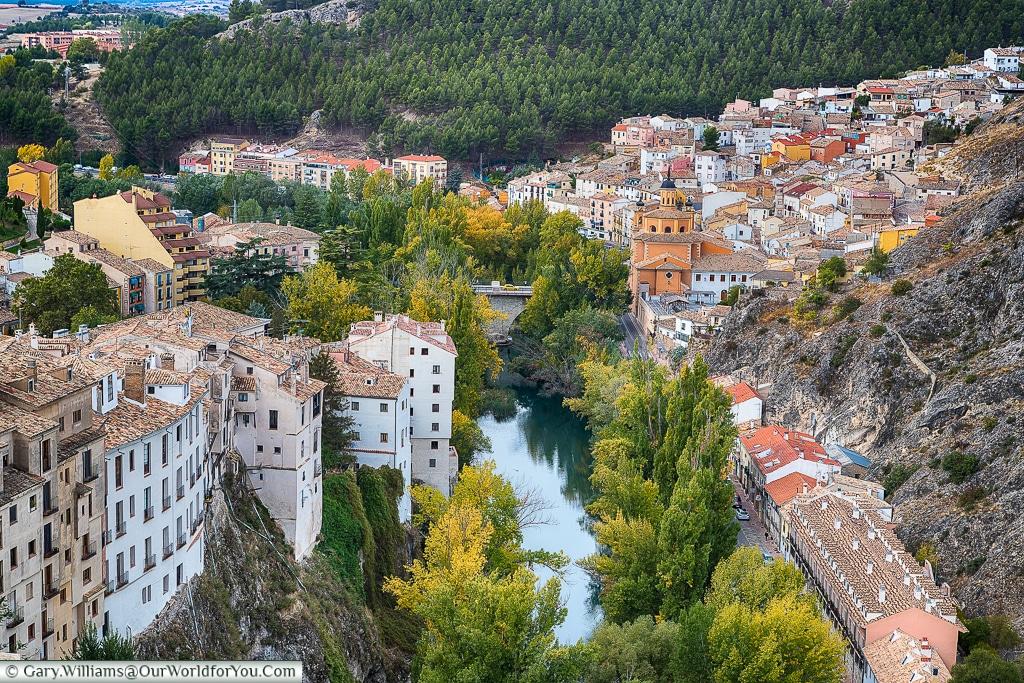 A view of the Rio Júca, Cuenca, Spain
