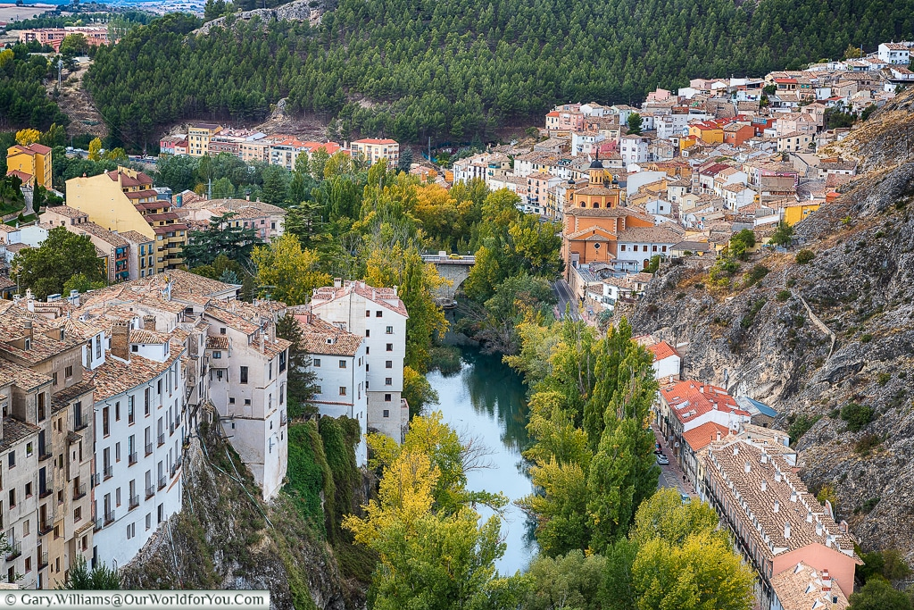 A view of the Rio Júca, Cuenca, Spain