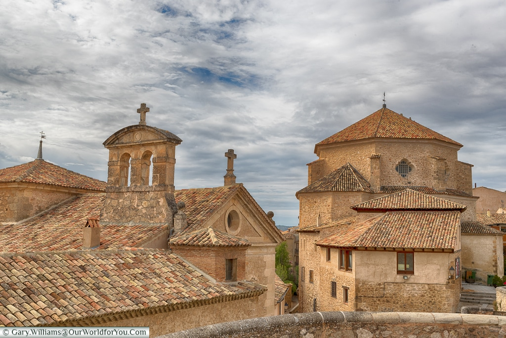 The rooftop of the Church of St Peter, Cuenca, Spain