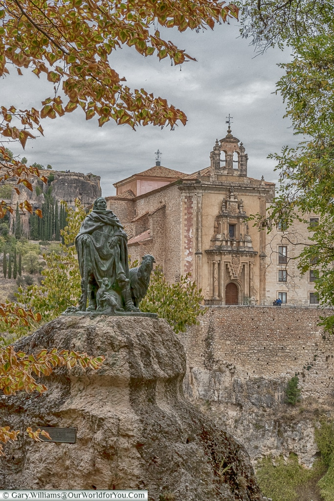 The view across to the Parador, Cuenca, Spain