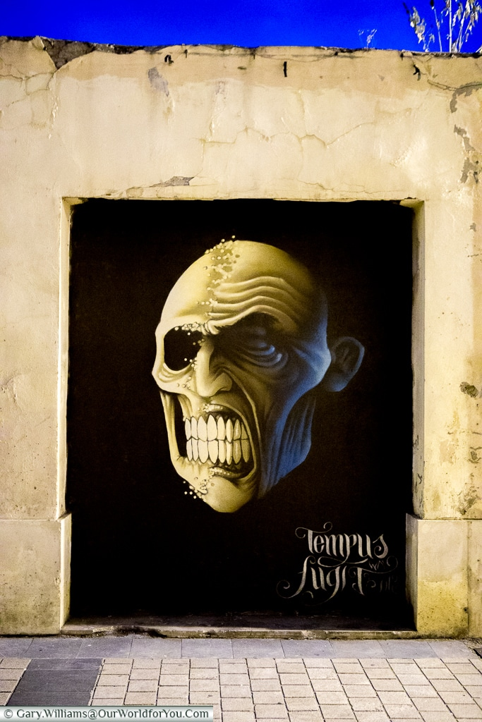 Angry Face - Street art, Logroño, Spain
