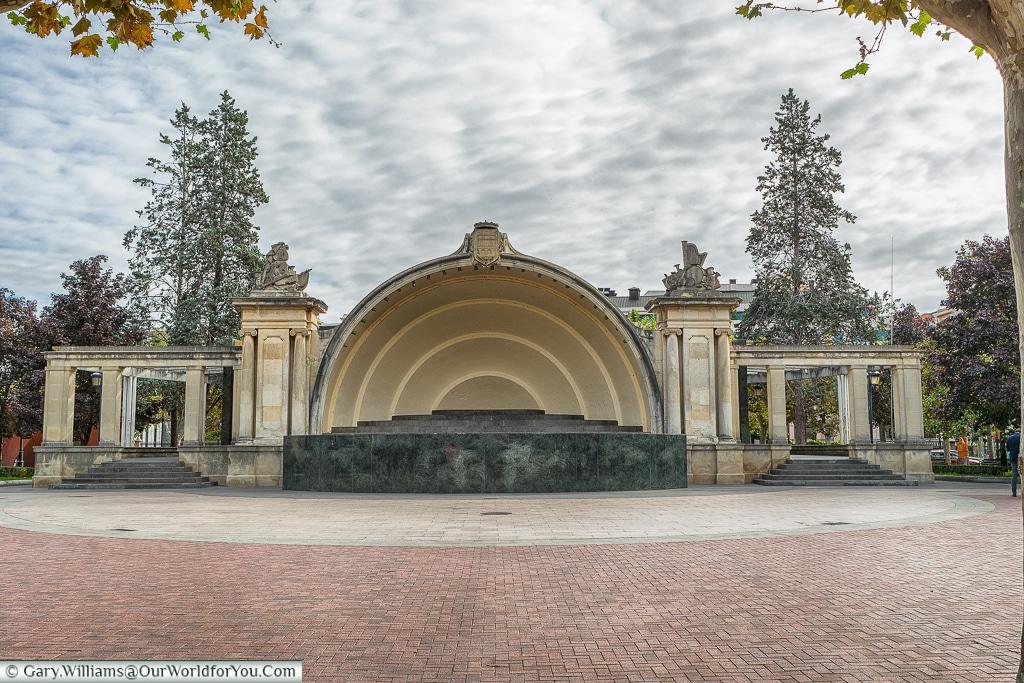 The bandstand, Logroño, Spain