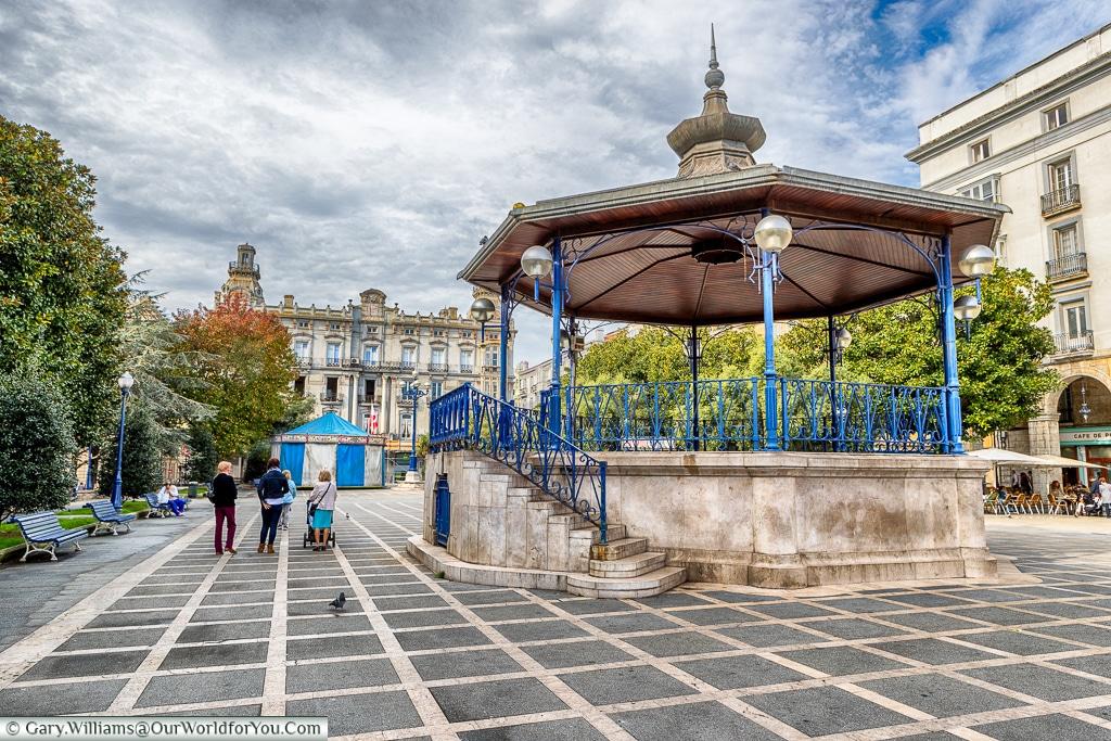 The bandstand in Plaza de Pombo, Santander, Spain
