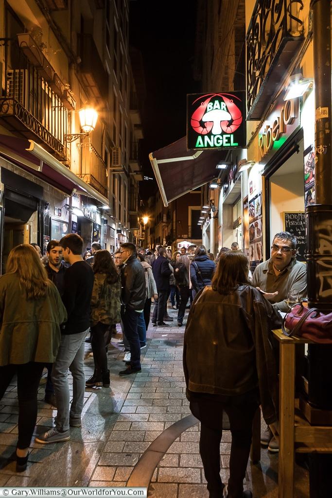 The evening on Calle del Laurel,  Logroño, Spain